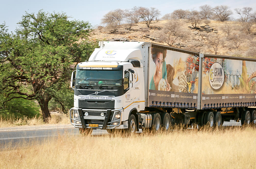 Grain Carriers Namibia Truck on the Road