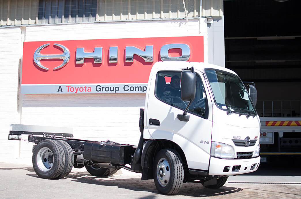 Hino Indongo Hino 300 Truck in front of Workshop